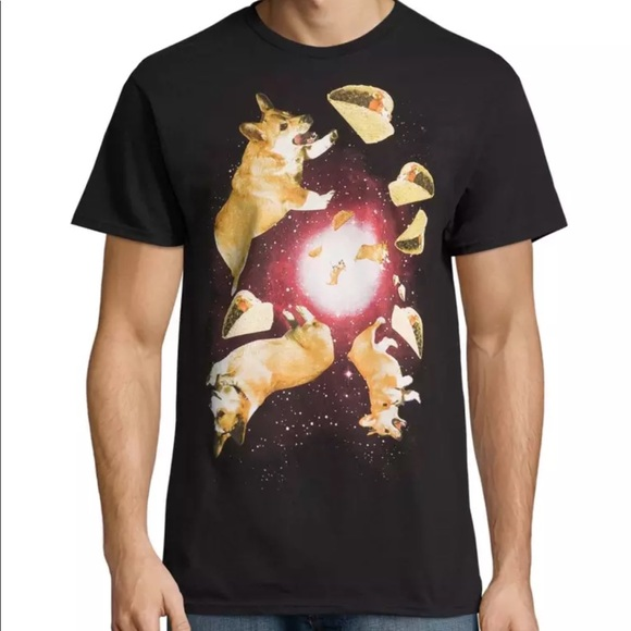 e9fd1e53 Walnut & 39th Shirts | Corgi And Tacos In Space Short Sleeve T Shirt ...